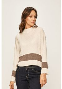 Kremowy sweter Jacqueline de Yong na co dzień, casualowy