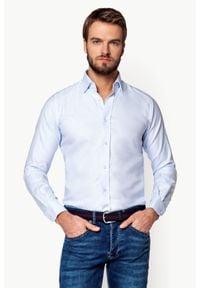 Biała koszula Lancerto z klasycznym kołnierzykiem, z haftami, elegancka