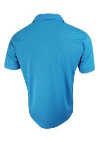 Niebieski t-shirt Stedman polo, sportowy, ze splotem