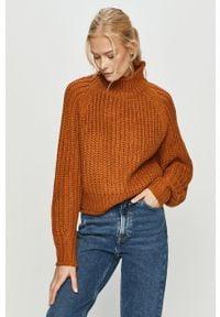 Pomarańczowy sweter Brave Soul na co dzień, casualowy