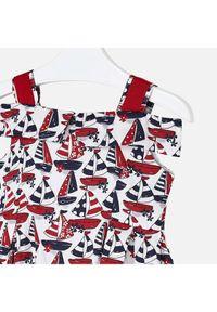 Sukienka Mayoral na co dzień, prosta, casualowa, w kolorowe wzory