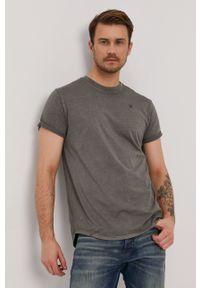 G-Star RAW - G-Star Raw - T-shirt. Okazja: na co dzień. Typ kołnierza: polo. Kolor: zielony. Materiał: dzianina. Wzór: gładki. Styl: casual