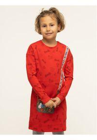 Czerwona sukienka Little Marc Jacobs casualowa, prosta, na co dzień