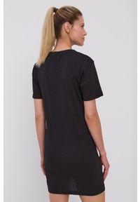 Brave Soul - Koszula nocna. Kolor: czarny. Materiał: dzianina. Długość: krótkie. Wzór: nadruk