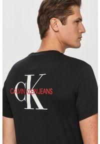 Czarny t-shirt Calvin Klein Jeans casualowy, na co dzień