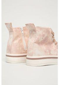 Call It Spring - Trampki Retroo. Nosek buta: okrągły. Zapięcie: sznurówki. Kolor: różowy. Materiał: guma