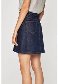 Niebieska spódnica Noisy may casualowa, z podwyższonym stanem, na co dzień #5