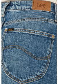 Niebieskie proste jeansy Lee
