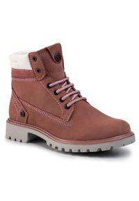 Różowe buty trekkingowe Wrangler