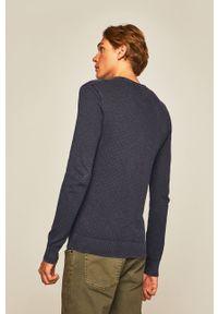 medicine - Medicine - Sweter Rusty Art. Okazja: na co dzień. Kolor: niebieski. Materiał: dzianina. Wzór: ze splotem. Styl: casual