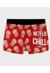 MegaKoszulki - Bokserki męskie fullprint Netflix and chill. Wzór: nadruk