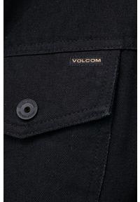 Volcom - Kurtka jeansowa. Okazja: na co dzień. Kolor: czarny. Materiał: jeans. Wzór: gładki. Styl: casual