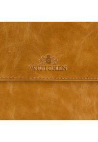 Brązowa listonoszka Wittchen w kolorowe wzory, elegancka