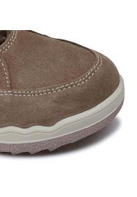 Brązowe buty zimowe Primigi z cholewką