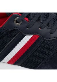 TOMMY HILFIGER - Tommy Hilfiger Sneakersy Iconic Material Mix Runner FM0FM03470 Granatowy. Kolor: niebieski