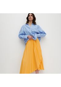 Reserved - Dzianinowa spódnica - Pomarańczowy. Kolor: pomarańczowy. Materiał: dzianina