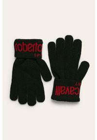 Czarne rękawiczki ROBERTO CAVALLI SPORT sportowe