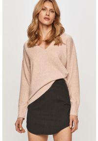 Różowy sweter only z długim rękawem, casualowy