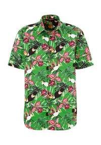 Cellbes Koszula zielony we wzory male zielony/ze wzorem L. Kolor: zielony. Długość rękawa: krótki rękaw. Długość: krótkie