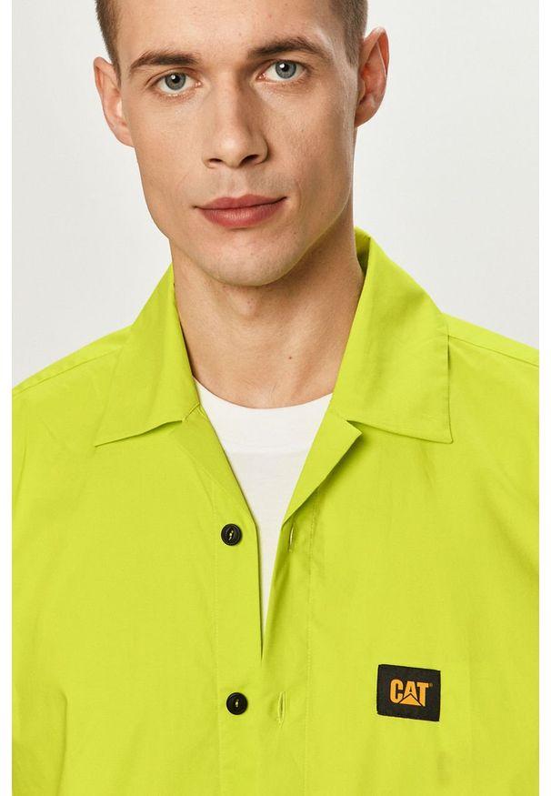 CATerpillar - Caterpillar - Koszula. Okazja: na co dzień. Kolor: żółty, zielony, wielokolorowy. Materiał: tkanina. Długość rękawa: krótki rękaw. Długość: krótkie. Wzór: gładki. Styl: klasyczny, casual