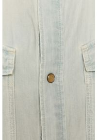 Niebieska koszula G-Star RAW długa, z klasycznym kołnierzykiem, na co dzień, klasyczna