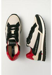 Sneakersy Guess Jeans z cholewką, na sznurówki, z okrągłym noskiem