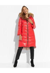 FLO&CLO - Czerwony płaszcz puchowy Preziosa. Kolor: czerwony. Materiał: puch