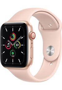 APPLE - Smartwatch Apple Watch SE GPS + Cellular 44mm Gold Alu Pink Sport Różowy (MYEX2FD/A). Rodzaj zegarka: smartwatch. Kolor: różowy. Styl: sportowy