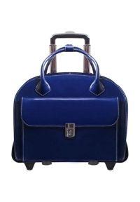Torba na laptopa MCKLEIN Glen Ellyn 15.6 cali Granatowy. Kolor: niebieski. Materiał: skóra. Styl: biznesowy, klasyczny, elegancki