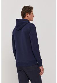 GANT - Gant - Bluza bawełniana. Okazja: na co dzień. Typ kołnierza: kaptur. Kolor: niebieski. Materiał: bawełna. Styl: casual