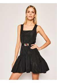 Czarna sukienka Manila Grace prosta, casualowa, na co dzień