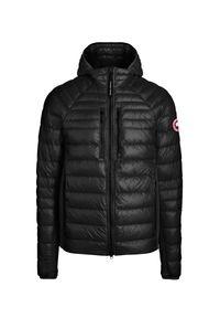 CANADA GOOSE - Czarna kurtka z kapturem Hybridge. Typ kołnierza: kaptur. Kolor: czarny