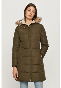 Oliwkowa kurtka Lauren Ralph Lauren casualowa, z kapturem, na co dzień