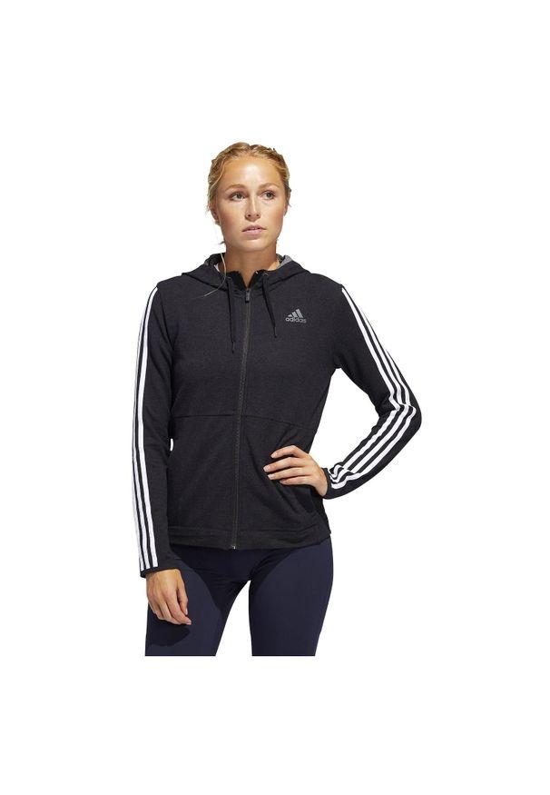 Adidas - Bluza damska treningowa adidas 3-Stripes FJ7316. Materiał: poliester, elastan, wiskoza, materiał. Długość rękawa: długi rękaw. Długość: długie. Sport: fitness