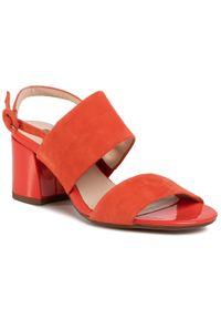 Pomarańczowe sandały HÖGL na co dzień, casualowe