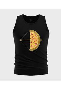MegaKoszulki - Koszulka męska bez rękawów Arrow pizza. Materiał: bawełna. Długość rękawa: bez rękawów