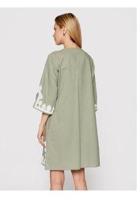 Zielona sukienka casualowa, prosta