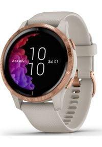 GARMIN - Zegarek sportowy Garmin Venu Beżowy (010-02173-23). Kolor: beżowy. Styl: sportowy