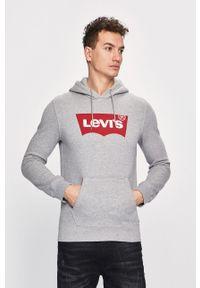 Szara bluza nierozpinana Levi's® z kapturem, w kolorowe wzory, na spotkanie biznesowe