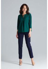 Zielona bluzka Katrus z dekoltem w serek