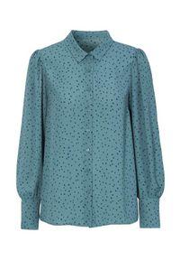 Cellbes Wzorzysta bluzka z bufkami niebieski we wzory female niebieski/ze wzorem 54/56. Kolor: niebieski. Materiał: tkanina, poliester. Długość rękawa: długi rękaw. Długość: długie. Styl: klasyczny