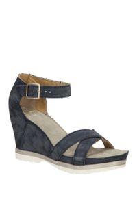 Niebieskie sandały Khrio klasyczne, na co dzień, na lato