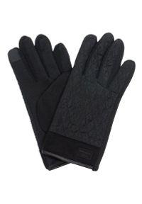 Czarne rękawiczki Pako Jeans klasyczne, na jesień