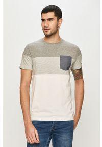 Szary t-shirt PRODUKT by Jack & Jones na co dzień, z nadrukiem, casualowy
