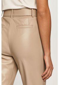 Szare spodnie materiałowe only na co dzień, casualowe, z podwyższonym stanem