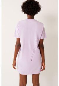 Fioletowa piżama Undiz z nadrukiem, krótka