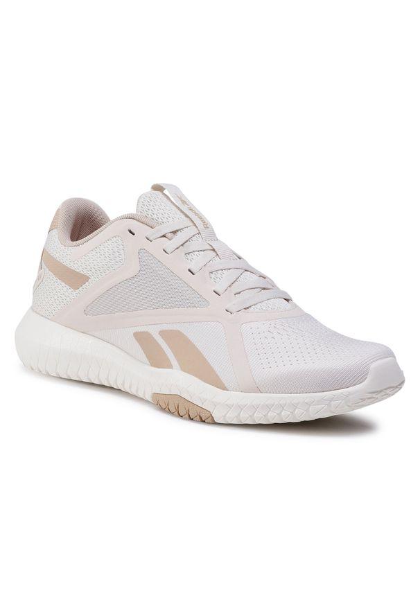Beżowe buty do fitnessu Reebok z cholewką