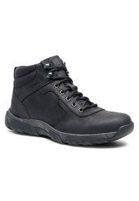 Czarne buty zimowe Clarks casualowe, z cholewką, na co dzień