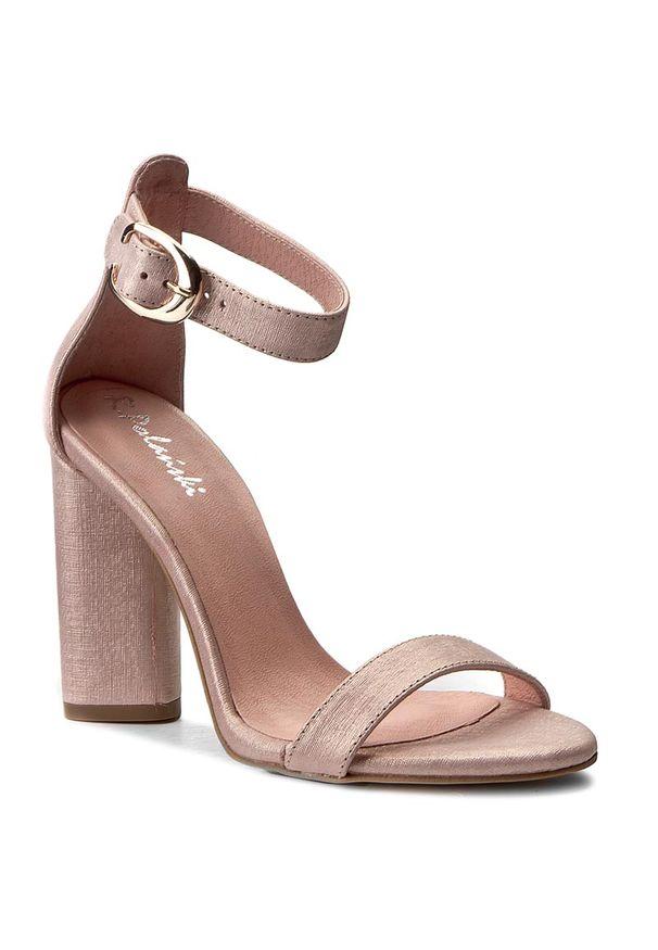 Różowe sandały R.Polański wizytowe