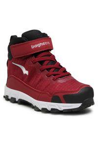 Bagheera - Trekkingi BAGHEERA - Astro 86468-12 C1601 Burgundy/Black. Kolor: czerwony. Materiał: skóra ekologiczna, materiał